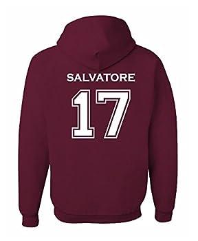 Adult Salvatore 17 2-Sided Hoodie  Medium Maroon