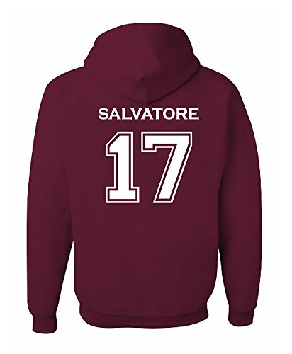 The Creating Studio Adult Salvatore 17 2-Sided Hoodie (Large, Maroon)