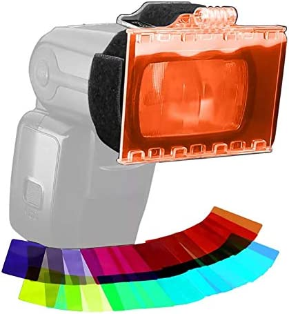 Universal Camera Flash Lighting Filter 18 Color Camera Photo Speedlite Flash Lighting Gels Filters product image