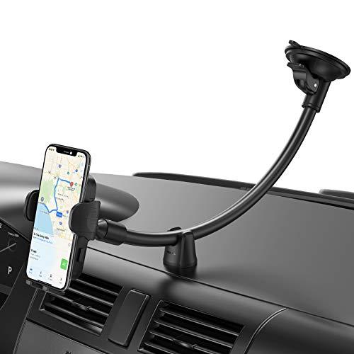 Mpow Handyhalterung Auto,Windschutzscheiben Handyhalter fürs Auto mit langem Schwanenhals,Autohalterung mit zusätzlicher Armaturenbrettbasis Kompatibel mit iPhone12/11Pro/XS/,Galaxy Note20/S20/10 usw.