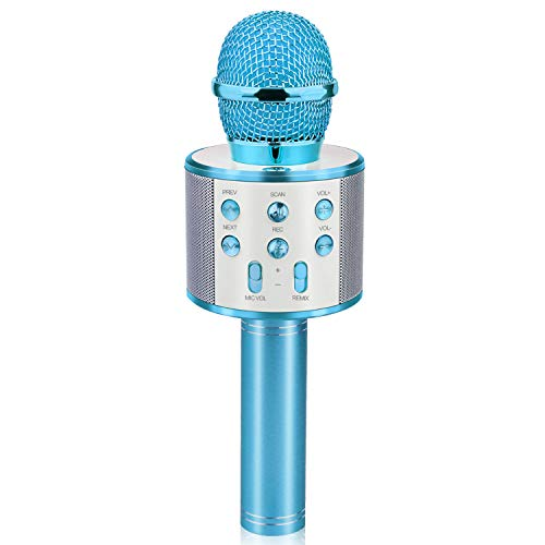 for Kids, Touber Wireless Portable Handheld Karaoke Microphone Bluetooth Toys for 4-12 Year Old Girls Boys Family Birthday Party Gift Toy Age 4-12 Girl Boy
