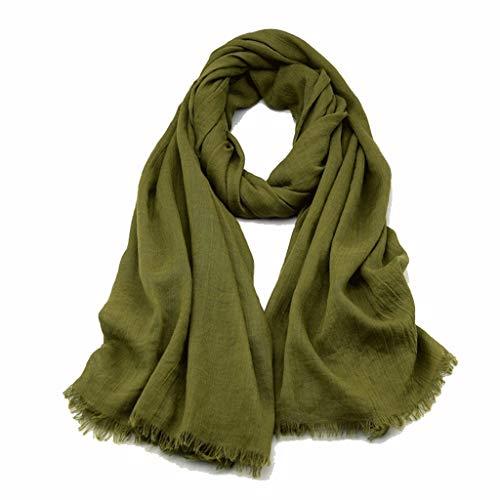 Fular Los hombres y las mujeres de algodón de la Lepra de la bufanda de primavera y otoño sección delgada sólida simple propósito Negro Color Gris oscuro Protector solar mantón dual Bufanda De Seda
