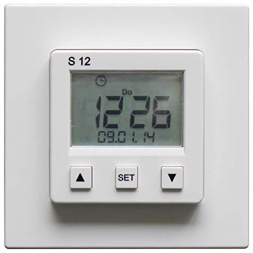 Somfy Zeitschaltuhr 1805236 S12, f, Rolladen Zeitschaltuhr für Installationsschalterprogramme 3660849544607