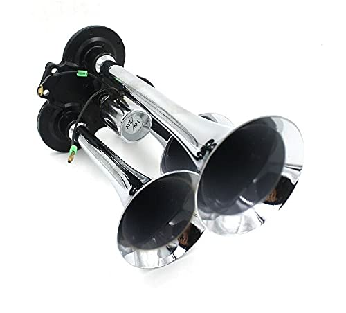24V potente 3 trompeta bocina de aire con solenoide 130dB para camión