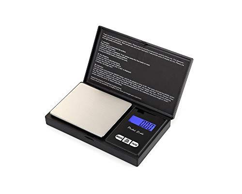 Eidyer Bilancia Digitale - Bilancia Elettronica 500g x 0.01g Mini Portatile Bilancia, Digital PRO Pocket Bilancia con Display LCD Retroilluminato, Bilancia da Cucina Gioielli Oro Argento (500g/0.01g)
