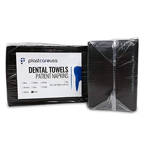 50 Black Disposable Dental Bibs 13