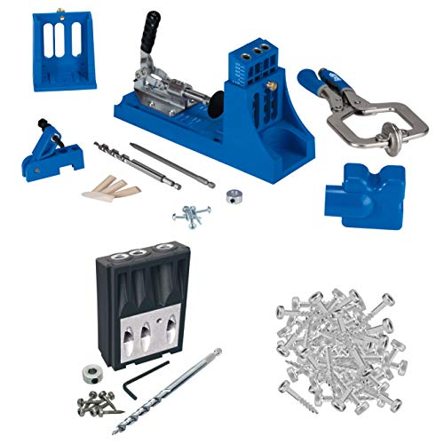 Kreg Jig K4 Master System with Micro Drill Guide Block and 100 Count Self Tapping Pocket Hole Screws