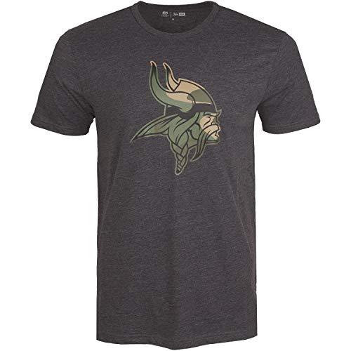 New Era Camo Shirt - NFL Minnesota Vikings Charcoal - L