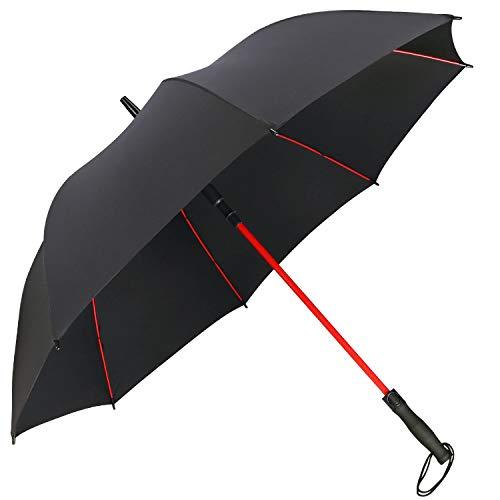 G4Free 55/62 Inch Paraguas de Golf Automático Paraguas de Palo Grande Costillas de Fibra de Vidrio Eje a Pprueba de Viento Impermeable para Hombres Mujeres