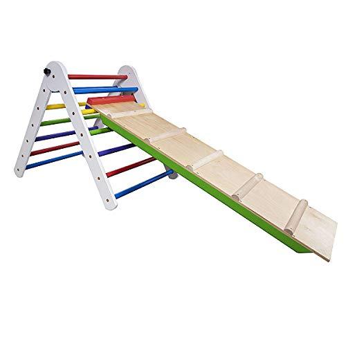 SportBaby Pikler Triángulo Pikler-Color-65, Niños escalada de madera, Bebé, habilidades motoras para los niños