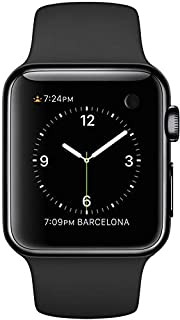 Apple 1st Gen Watch - 38mm Black Stainless Steel Case with Black Sport Band, MLCK2