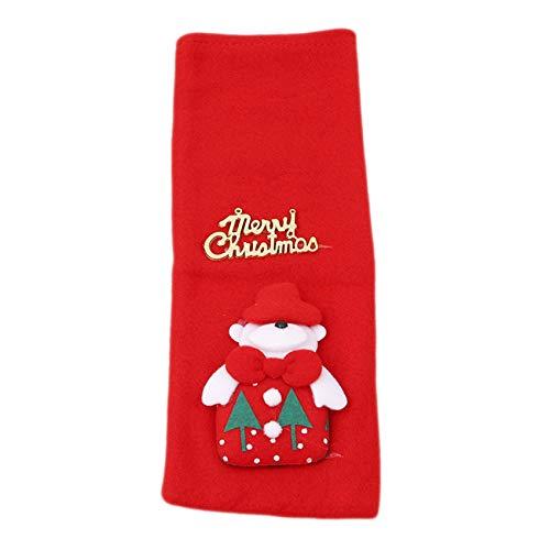 unknow Sawyerda - Funda para botella de vino de Navidad, bolsa de regalo, para decoración de mesa de Navidad, fiesta de Navidad, oso