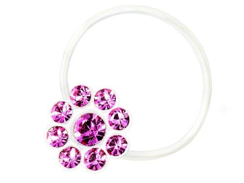 Zehenring Zirkonia Blume rose - 925 Sterling Silber - Fuß Schmuck Damen Fuß-Ring Toe-Ring