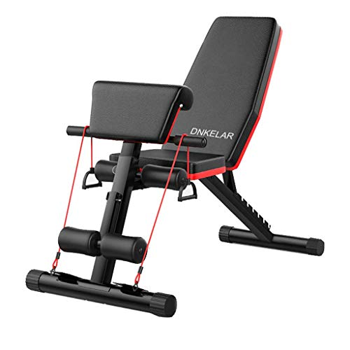 Panca per pesi pieghevole Panca per fitness allenamento Allenatore per schiena Stazione motrice inclinata Allenamento multifunzione Antiscivolo addominale pesi multifunzione della forza