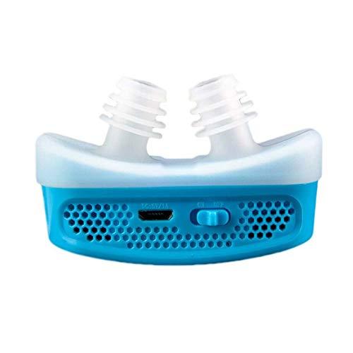 Anti-snoring Mini CPAP Anti-snoring Electronic Device for Sleep apnea Stops snoring Help Stop (Color : Blue)