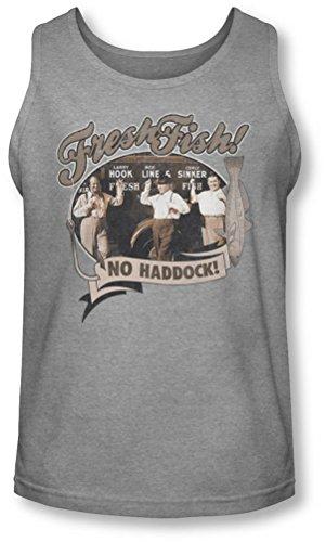 Three Stooges - Herren Fresh Fish Tank-Top, XX-Large, Athletic Heather