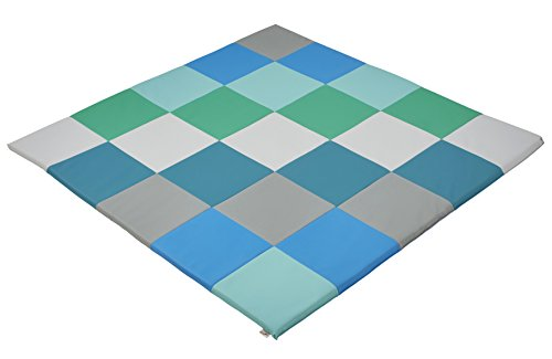 """ECR4Kids ELR-031F-CT Softzone Patchwork Toddler Foam Play Mat, 58"""" Square, Contemporary"""