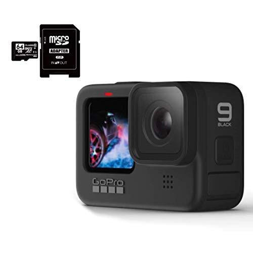 GoPro HERO9 Black ゴープロ ヒーロー9 ブラック ウェアラブル アクションカメラ CHDHX-901 + マイクロ SD カード 64GB セット [並行輸入品]