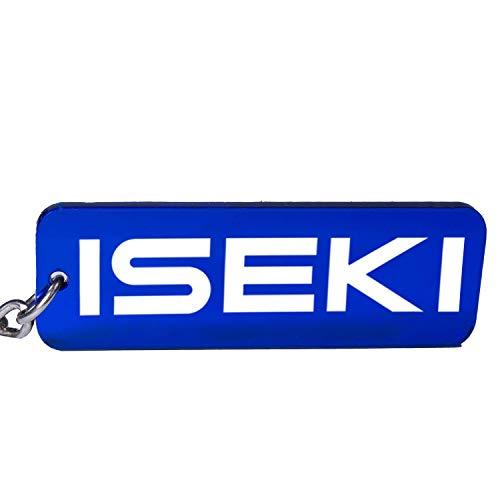 Iseki Trecker Traktor Schlüsselanhänger Emblem in Blau/Weiß