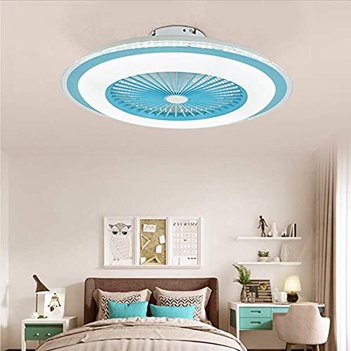 yanzz Ventilador LED de 80 W con luz de Techo Ajustable con iluminación, Control Remoto, silencioso, Regulable, Velocidad del Viento, lámpara de Techo, contemporáneo, con iluminación, Ventilador,