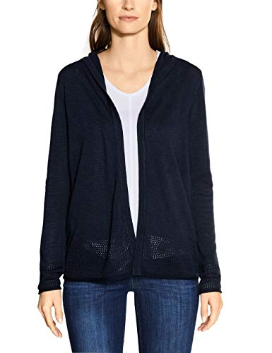 Cecil Damen 253026 Strickjacke, deep Blue, Medium