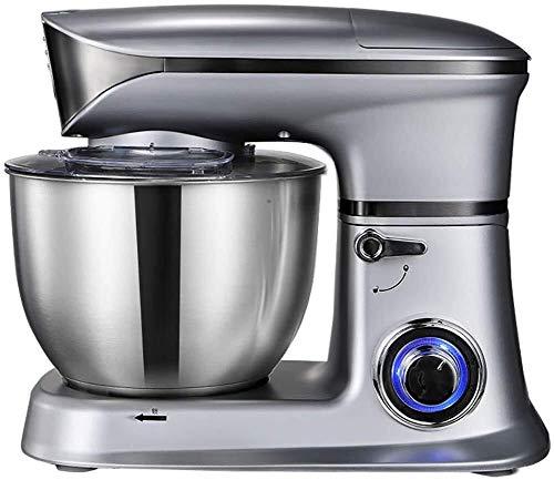 J-Küchenmaschine Rührmaschine Ei-Klopfer, Teig Mixer Standmixer Edelstahl Neige-Kopf 6.5L Multifunktions Home Küchenvollautomatische Klein Chef-Maschine Knetmaschine (Color : Gray)