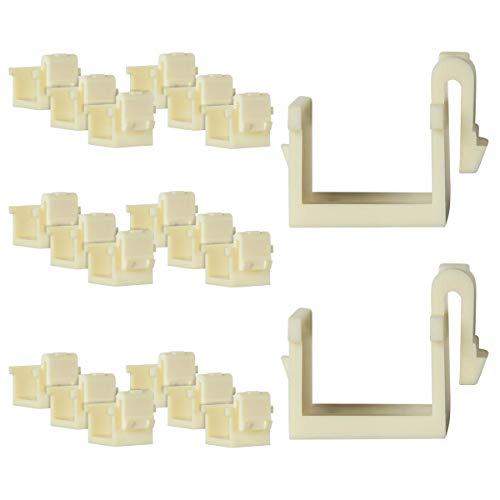 ENERLITES Blank Insert Audio/Video Connector, for Multimedia Wall Plates, 6103-A-20PCS, Almond (20 Pack)