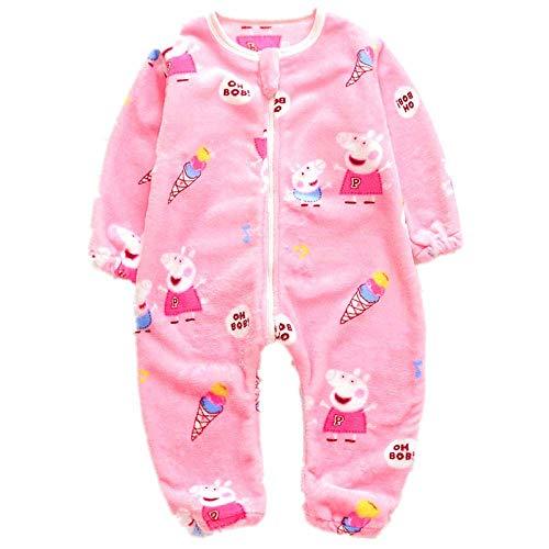 NIHAOA Pijama de bebé Babys Pijama de otoño e Invierno Dormir Escalada Bolsa de Ropa Manta Franela Inicio Servicio de 1-2 años de Edad Multifuncional Paquete (Color : -)