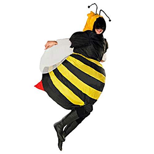Aufblasbare Kostüm für Erwachsene Aufblasbarer Costume Kreative Party Karneval Lustige Kleidung Tier Sumo Cosplay Lustig Aufblasbares Aufblasen Kleid Fasching Luftschiff Aufblasbar Anzug (Biene)