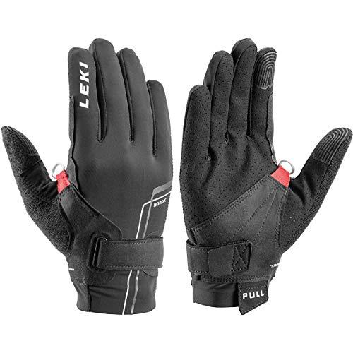 LEKI Nordic Move Shark Handschuhe, schwarz-Weiss, EU 9
