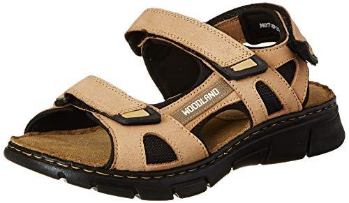 Woodland Men's Paris Khaki Leather Sandal-10 UK (GD 3253119)