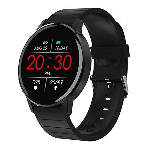 Reloj Inteligente De Las Mujeres para Hombres 1.3 Pulgadas HD Pantalla Táctil Completa IP68 Impermeable Fitness Fitness Rate Heart Reloj Inteligente para Android iOS