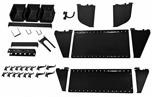 Wall Control, 35-K-WRKBK, Workstation Slotted Accessory Kit, Black