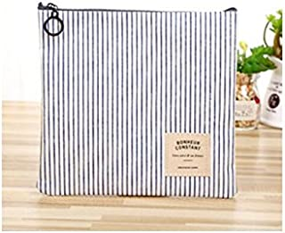 Polykor Fashion Transparent Portable Mini Women Waterproof Travel Cosmetic Bag For Make up Bags(Blue Stripes)