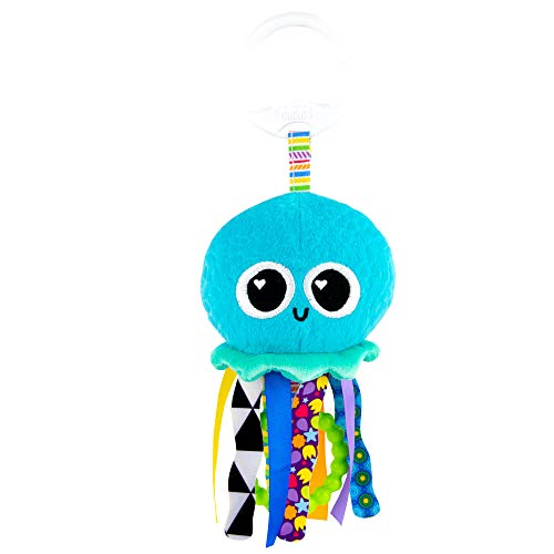 LAMAZE L27194 Mini Clip & Go Sprinkles The Jellyfish, Clip on Pram and Pushchair Newborn, Sensory Toy for Babies Boys and Girls from 0-6 Months