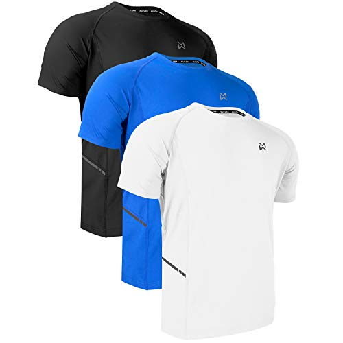 Men Dry-Fit Running Workout T-Shirt Short Sleeve Athletic Gym Training Tee for Men