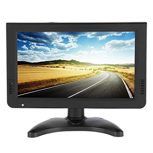 Focket TV Digital, 16: 9 1080P HD Estéreo Envolvente Televisión del Coche Reproductor de Video portátil de Escritorio Admite AV, Tarjeta TF, Puerto USB para el hogar, Caravana, etc(10in)