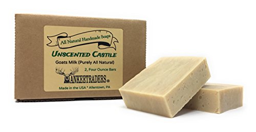 Yankee Traders Brand Castile with Goats Milk Soap, 2/4 Ounce, 2 Count