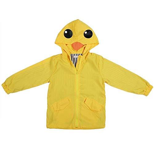 Eend van de baby Regenjas, Summer Baby Girl Boy Duck waterdicht Cute Coat Cartoon Hoodie Zipper Lichtgewicht Regenkleding Outfit (Omvang: 110) (Size : 80)