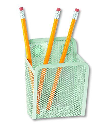 Jennakate - Magnetic Pen Holder for Locker, Command Center, Office, Whiteboard, Fridge | Marker & Pencil Cup Mint Green
