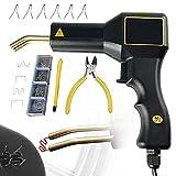 PaNt Grapadora Caliente 50W Soldador de Plástico con 200 Grapas Kit de Reparación de Parachoques de Coche con Luz LED Kit de Reparación de Plástico Portátil, para La Eliminación de PVC Grietas, 220V