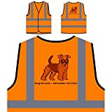 Dog Breed Airedale Terrier 1 Personalized Hi Visibility Orange Safety Jacket Vest Waistcoat s779vo