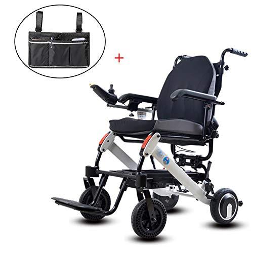 GUTYRE Faltbare Elektro-Rollstuhl mit Aufbewahrungstasche, Automatische Leichten Gehhilfe, Elektrischer Energie oder manueller Manipulation Rollstuhl für senioren