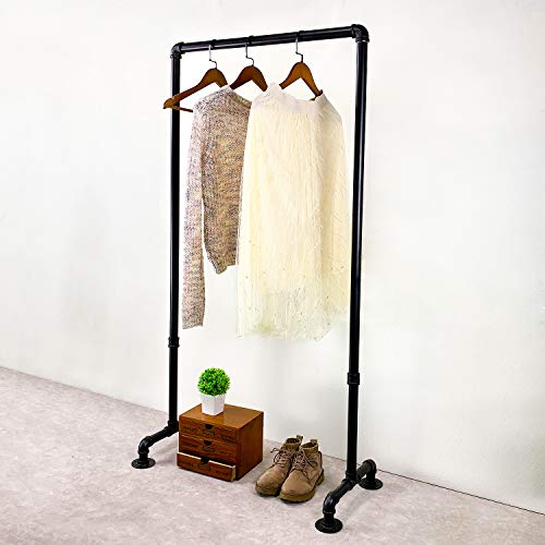 Womio Industrial Pipe Clothing Racks30 in Hanging Clothes Retail DisplayCommercial Grade Pipe Clothes RacksHeavy Duty Garment RacksBlack