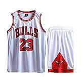 Foairs Tuta estiva da basket, da uomo, modello Michael Jordan # 23, pantaloncini da basket retrò...