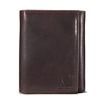 Carhartt Men's Trifold Wallet, Oil tan Brown, One Size