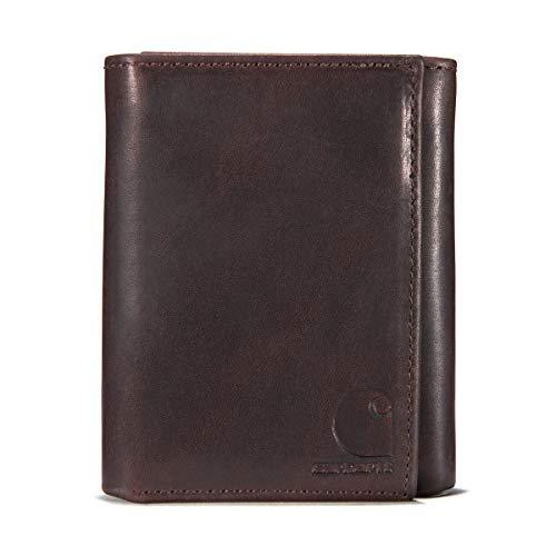 Carhartt Men's Standard Trifold Wallet, Oil Tan - Brown, One Size