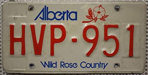 KANADA_Auswahl_von_Fahrzeugschildern , Alberta Nummernschild Kanada Kennzeichen, Canada License Plate, Autoschild aus Nordamerika, KFZ Metall-Schild