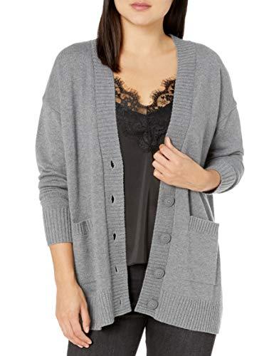 The Drop Suéter Tipo Cardigan con Bolsillo de Parche Delantero Y Botones Extragrandes Cardigan-Sweaters Mujer
