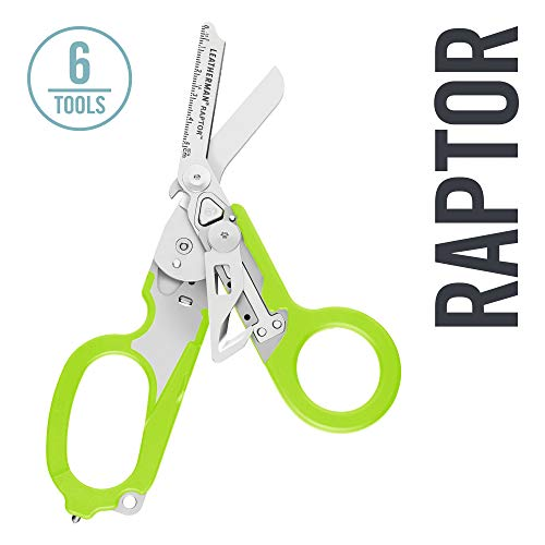 LEATHERMAN - Raptor Emergency Response Shears with Strap Cutter and Glass Breaker, Green with Utility Holster